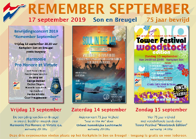 Drieluik met programmering muziekweekend Remember September 2019